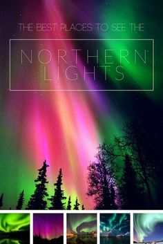 There is no exact science to seeing the Northern Lights, and that there's never any guarantee. Though from the northernmost fjords of Norway to the snow-enveloped wilderness of Alaska, here are some of your best bets. 🌻 For more great pins go to Northern Lights Map, Places To Travel, Places To See, Destinations, Norway Travel, Fjord, Cool Countries, Natural Phenomena, Future Travel