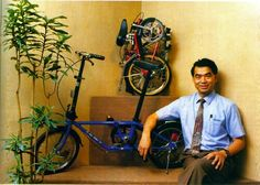 "In 1982, Dr. David Hon, a physcisist, began production of the first Dahon folding bike. Both Brompton + Dahon are still among the most popular folding bike brands today. Dahon has gone on to become the world's largest folding bike manufacturer with an estimated 60% market share. The first photo below is Dr. Hon with his first folding bike simply named ""Da Bike"". http://www.foldingcyclist.com/folding-bike-history.html"