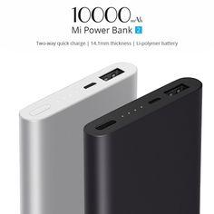Xiaomi-Mi-Pocket-10000mAh-Mobile-Power-Bank-2-High-Capacity-Portable-Charger-For-Samsung--Xiaomi-iPhone7 Portable Charger, Samsung, Pocket, Bag