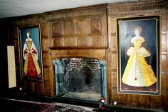 Panelled interior in Castle Lodge at Ludlow / Shropshire / UK - photograph by L. Hewitt