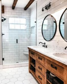 Modern Farmhouse, Rustic Modern, Classic, light and airy master bathroom design ideas. Bathroom makeover some ideas and master bathroom renovation tips. Diy Bathroom Remodel, Bathroom Renos, Bathroom Renovations, Bathroom Ideas, Bathroom Organization, Budget Bathroom, Bathroom Beadboard, Bathroom Cabinets, Bathroom Designs