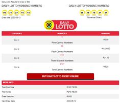 Check the LATEST results for Daily Lotto South Africa here! Our page is automatically updated every day! You can also check historical results! Lotto Lottery, Lottery Winner, Lottery Tickets, Lotto Winning Numbers, Winning Numbers For Today, Lotto Results, Africa Online, Daddy Quotes, National Lottery