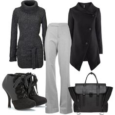 """minus the shoes... """"shades of grey"""" by juliebraswell on Polyvore"""