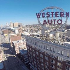 Western Auto - view from a drone
