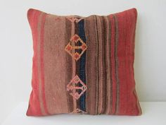 Anatolian Antique Rug Pillow Cover kilim by mothersatelier on Etsy, $79.00