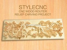 CNC wood router for relief carving project