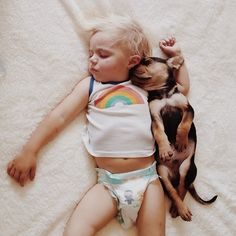 So cute, baby&puppy pictures <333