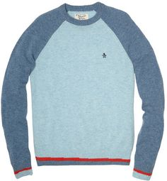 Color-Blocked Lambswool Sweater