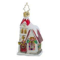 "Christopher Radko Church Ornament - ""Ruby Chapel"" Little Gem"