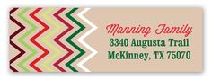 Chevron Ornament Address Label