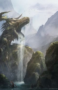 dragon cave by Giao Nguyen | Illustration | 2D | CGSociety