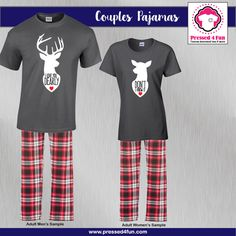 Valentine's Day Couples Pajamas | Dearly  Design | Pressed 4 Fun | Valentine's Day Gifts