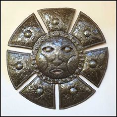 "Sun Metal Wall Hanging - Sun Metal Wall Art - 24"" - Haitian Metal Art - Recycled Steel Drum - Handcrafted Metal Art of Haiti - 1618 by MetalArtofHaiti on Etsy"