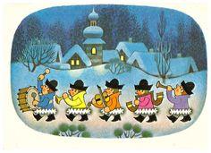 Z Miler, Christmas card 10 x 15, Czech Republic