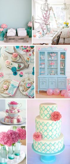 Pale pink and blue wedding, perfect to incorporate mine and Ben's favorite colors :)