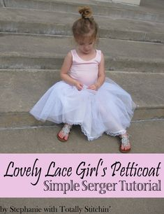 How to make an easy petticoat to poof any little girls' dress! Tutorial by Stephanie with Totally Stitchin'