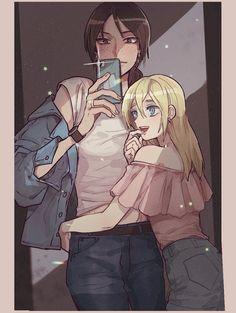 Anime Girlxgirl, Yuri Anime, Fanarts Anime, Anime Demon, Attack On Titan Fanart, Attack On Titan Ships, Christa Attack On Titan, Yuri Love, Attack On Titan Aesthetic