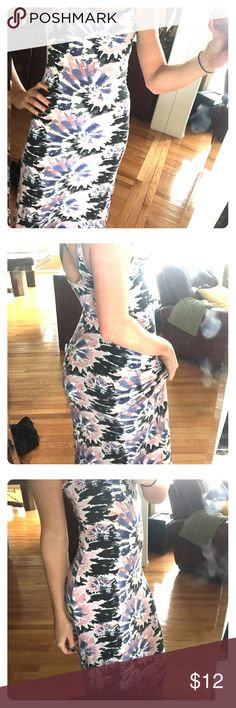 Maxi dress Light purple, light pink, black and navy blue tie die maxi dress. Perfect for summer time, early day time. The color draws attention and the style brings out your natural curves. Dresses Maxi