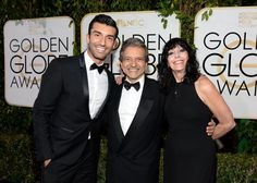 Pin for Later: The 34 Cutest Family Moments From Award Season  Jane the Virgin star Justin Baldoni had his parents, Sam and Sharon, by his side on the Golden Globes red carpet.