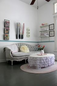 Ruffle table. And the couch....