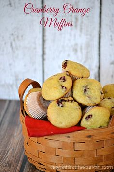 If you love cranberries like I do then these Cranberry Orange Muffins recipe are for you!  Crunchy on the outside and soft on the inside. #recipes #food #foodie #ladybehindthecurtain