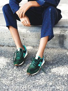 Green New Balances. @thecoveteur