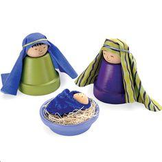 Terra-cotta pots nativity