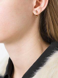 Shaun Leane 18kt gold small Talon diamond earrings