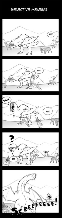 Monster Hunter Comic - Selective Hearing by macawnivore on DeviantArt Monster Hunter Memes, Monster Hunter World, Baby Hunter, Funny Monsters, Comic Manga, You Monster, Creature Concept Art, Fantasy Monster, Fantasy Character Design