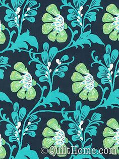 Daisy Chain AB40-Navy Fabric by Amy Butler