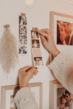 DIY déco : un mur de cadres bohème - C by Clemence Photo Cabine, Style Retro, Bedroom Decor, Rooms, Blog, Ideas, White Picture Frames, Wall Of Frames, Weddings