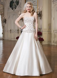 Hot Sale Ball Gown Country Wedding Dresses Flores Para Noivas Beading Floor  Length Bridal Gowns Satin Sweetheart In Stock NW3071-in Wedding Dresses  from ... 666e6f06dc96