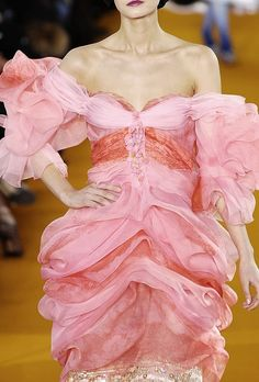 Christian Lacroix - love ruffles and pink too..... what a dress