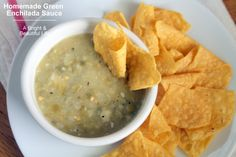 This homemade green enchilada sauce is great for all those Mexican recipes that call for green salsa or green enchilada sauce. It's delicious and easy to make.