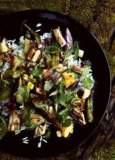 legumes grelhados na manteiga
