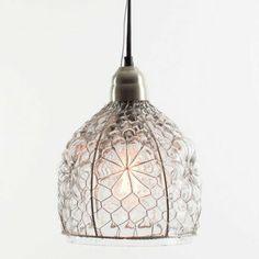 Kalalou NNL1000 Electric Pendant Lamp with Glass Shade
