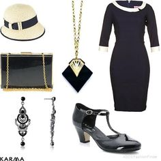 1930s inspired fashion montage
