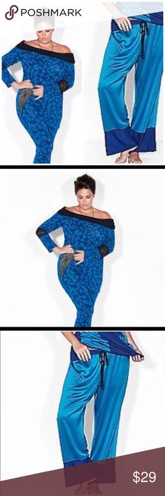 💕NWT Sophia Theallet for Lane Bryant Loungewear💕 Gorgeous loungewear from Sophia Theallet. Patterned top with lace on sleeves and two-toned drawstring pants. Soft, stylish and comfortable! Great buy!!! 💃 Lane Bryant Intimates & Sleepwear Pajamas