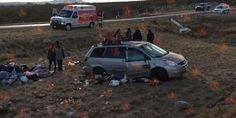 Vuelcan paisanos en la carretera Camargo a Delicias; hay 6 lesionados | El Puntero