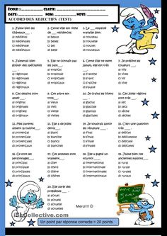 Accord des adjectifs #french #francais