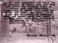 Invention, from The Prince by Niccolo Machiavelli