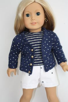 American Girl Dolls : American Girl Doll Clothes 18 inch Doll by GrandmasDollCloset. Made with the Cla Sewing Doll Clothes, American Doll Clothes, Sewing Dolls, Girl Doll Clothes, Doll Clothes Patterns, Clothing Patterns, Girl Dolls, Ag Dolls, Doll Patterns