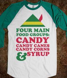 #elf #willferrell #funny #christmas #quote #fourmainfoodgroups