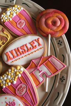 Modern Girly Circus Cookies