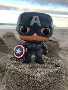 "https://flic.kr/p/QkerAE | The Avengers Pop Vinyl Figure | Day 12 of my #FunkoPopPhotoADay Challenge ""at the beach"". Captain America is king of the castle! Instagram @ fifilele"