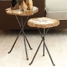 Petrified Wood Tables Frontgate