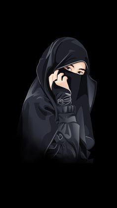 Cute Couple Images, Cute Love Images, Cute Muslim Couples, Muslim Girls, Hijabi Girl, Girl Hijab, Anime Girl Drawings, Anime Art Girl, Girl Cartoon