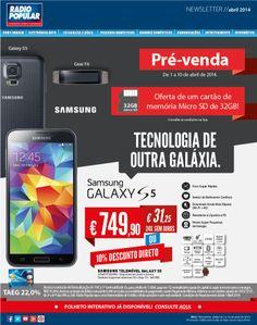 ★ Samsung Galaxy S5 com 10% Desconto direto! http://www.radiopopular.pt/newsletter/2014/32/