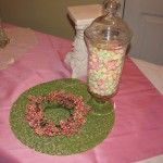 Use a berry wreath to wrap around base of jar