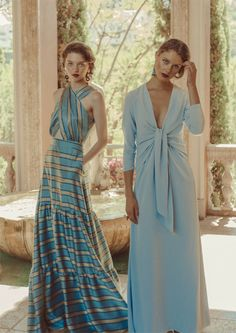 The dress, and the suit, for a wedding of the perfect guest, and invited . Wedding Guest Looks, Casual Party Dresses, Contemporary Dresses, Night Outfits, Slow Fashion, Blue Dresses, Evening Dresses, Creations, Clothes